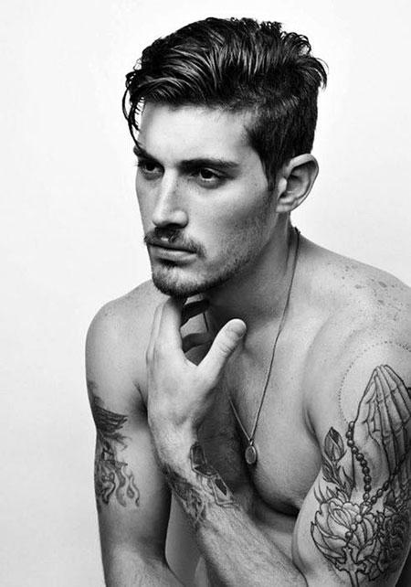 Medium Haircut for Men, Hairtyles Top Thick Medium