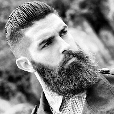 Sexy Haircut for Men, Beard Styles Skjegg Hairtyle
