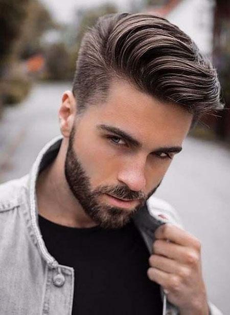 Medium Straight Hair for Men, Hair Styles Beard Hairtyles