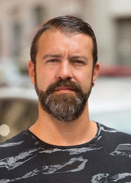 Beard and Short Hair, Beard Face Round Richard