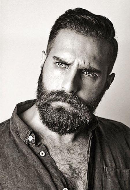 Short Classy Haircut, Beard Bearded Sexy Men