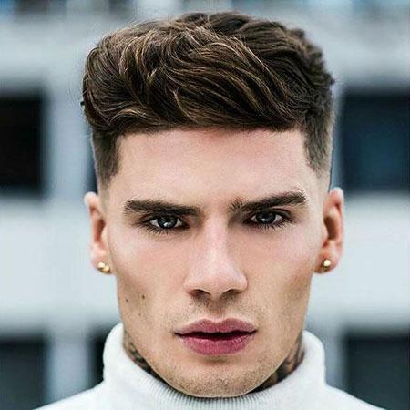 Cool Medium Haircut, Hair Face Triangular Mens