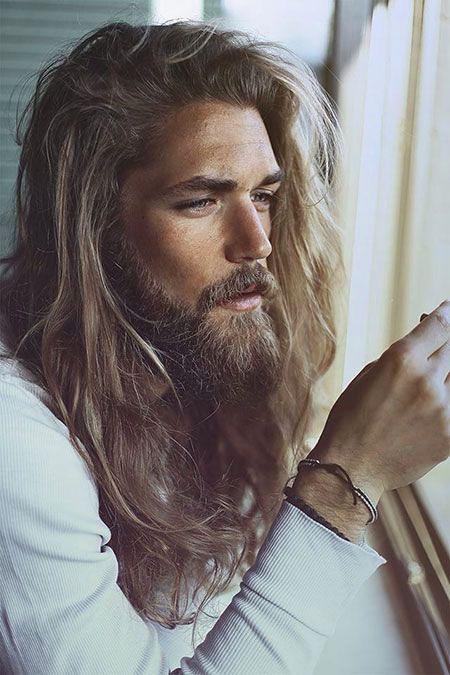 Cool Long Hair and Beard, Long Men Dahlhaus Styles