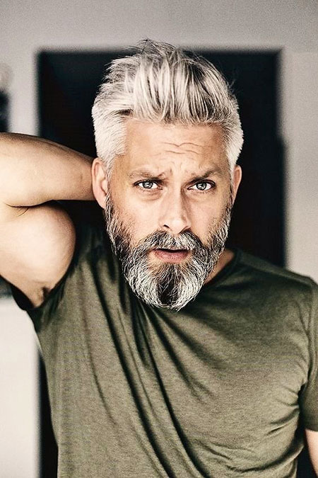 Older Guy with Sexy Hair, Beard Clooney George Hairtyles