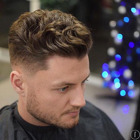 Wavy Short Hair Cut Men, Wavy Hair Short Haircuts