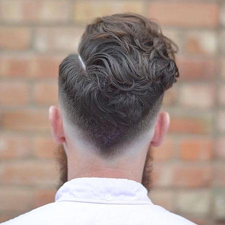 Fade Hair Wavy Haircut