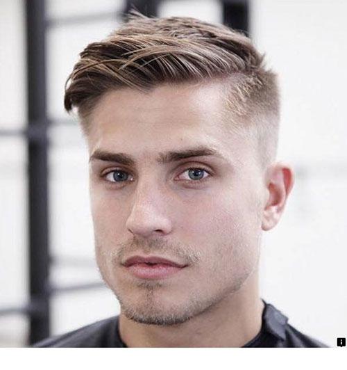 Mens Side Swept Haircut