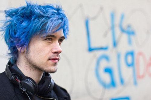 Pastel Blue Hair Men