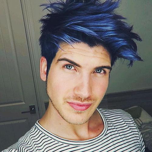 Electric Blue Hair Men
