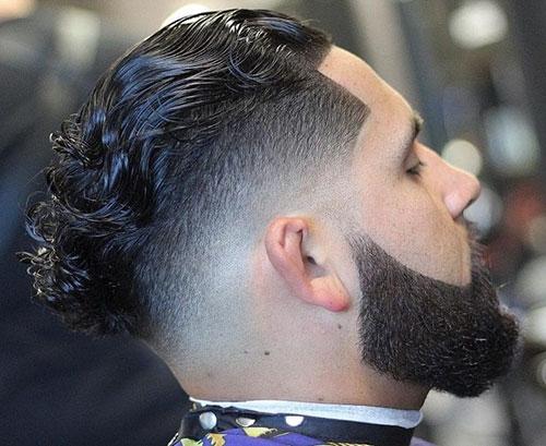 Mens Slick Back Fade Haircut