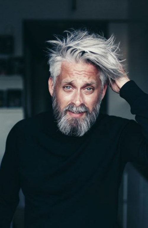 Hairstyles For Men With Grey Hair