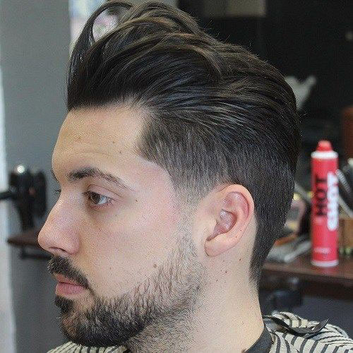 Slick Back Haircut Fade