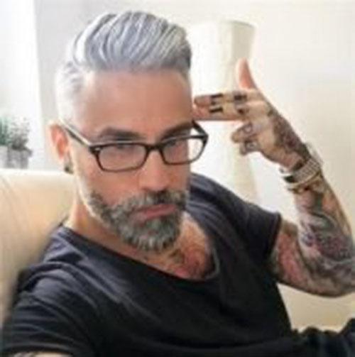 Grey Hair Styles Men