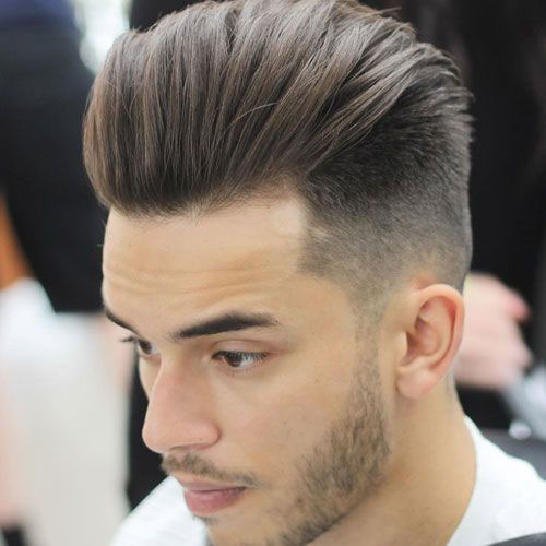 Slick Back Fade Hairstyle