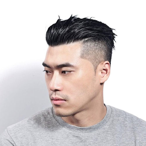 Fade Slick Back Haircut