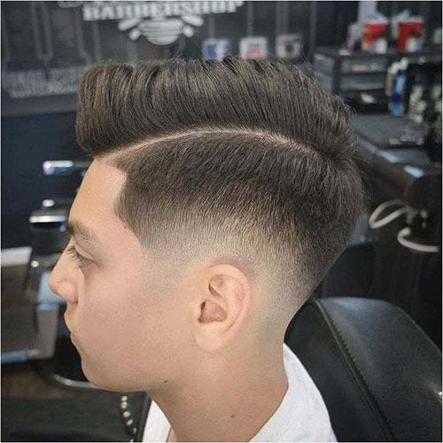 Side Part Fade Mens Haircut