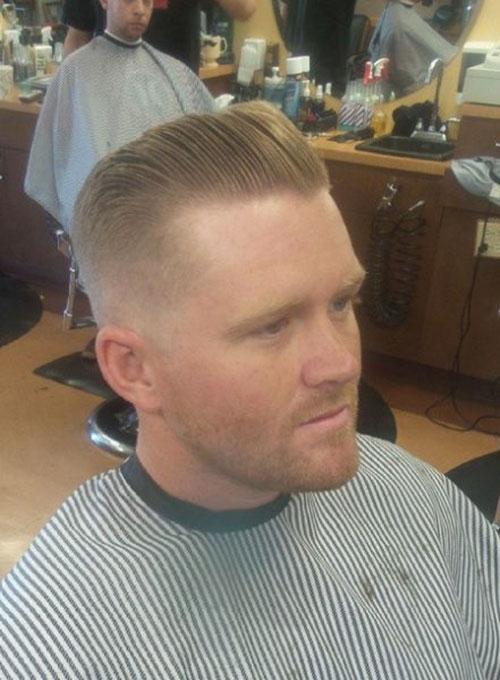 Slick Back Haircut With Fade