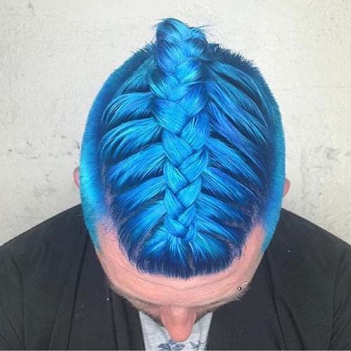 Icy Blue Hair Men