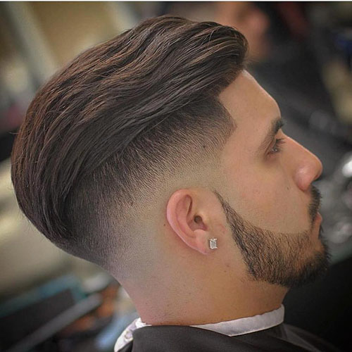 Mens Slick Back Fade Haircut