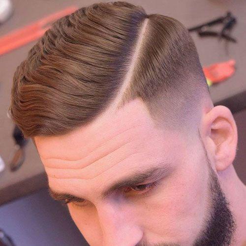 Mens Hair Side Part Fade