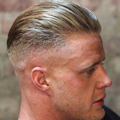 Fade Slick Back Haircut