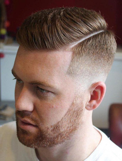 Mens Hairstyles Side Part Fade