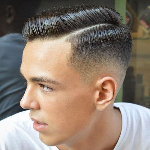 Side Part Haircut Fade